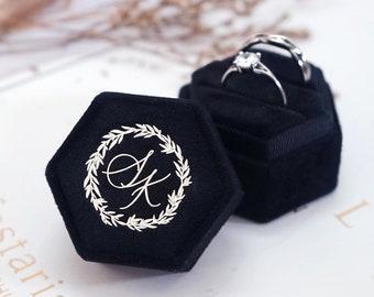 Ring Box   Engagement Ring Box   Wedding Ring Box   Velvet Ring Box   Proposal   Double Slot   Ring Bearer Box   Personalized Ring Box