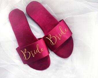 8ad3e56b9e26a7 Bridesmaid Wedding Slippers