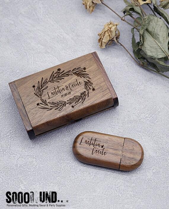 80*60*20mm Wooden Box USB Flash Drive Gift Box Package Box custom engrave logo