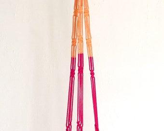 mod peach & pink plant hanger