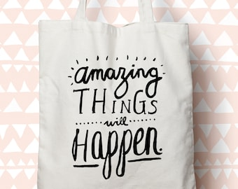 Amazing Things - Cotton Canvas Tote bag