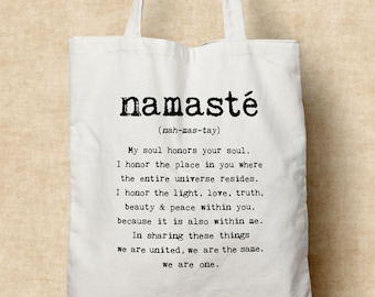 Namaste - Cotton Tote bag