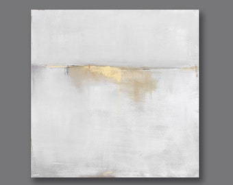 Best Selling Items, Gold Gray Abstract Art Canvas Print, 36x36, 40x40, 48x48 Abstract Landscape Painting, Large Wall Art, Most Popular Item