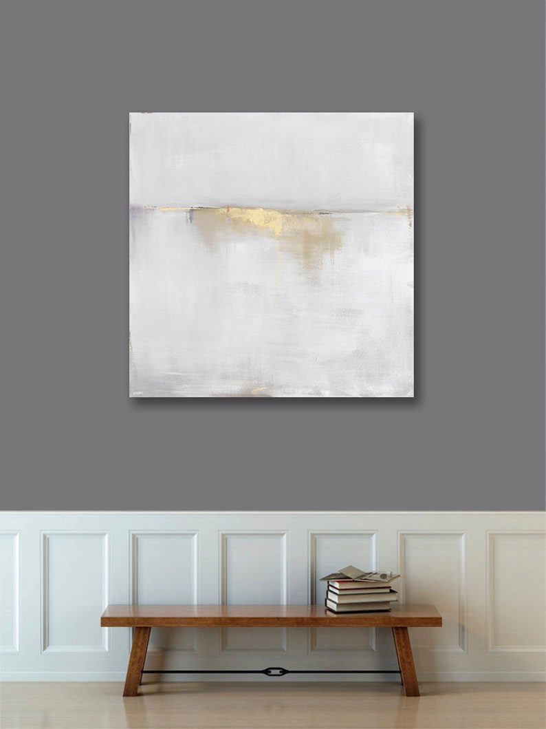 Best Selling Items Gold Gray Abstract Art Canvas Print Etsy