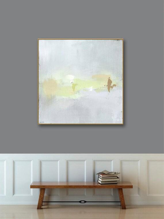 Gold Framed Abstract Landscape Art 40x40 48x48 Gold Framed   Etsy