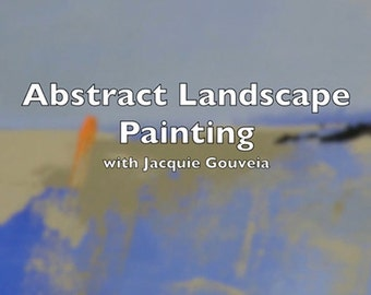 Best Selling Items, VIDEO Tutorial Abstract Landscape Painting, Painting Lesson, Top Selling Item Learn to Paint, 8x8 Digital Download