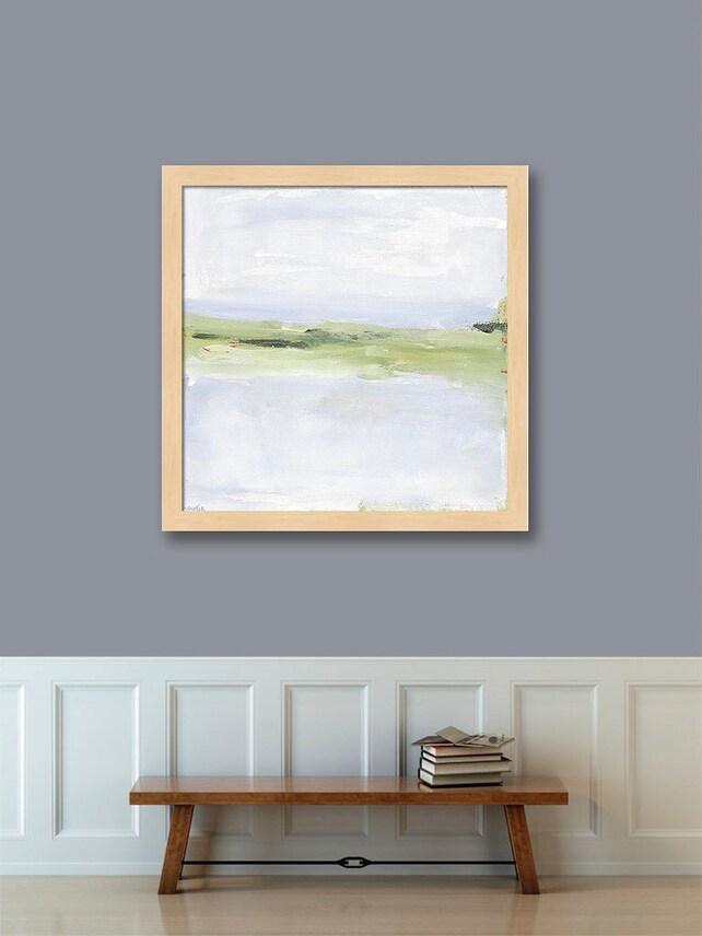 Framed Wall Art Abstract Landscape Coastal Paper Print Large | Etsy