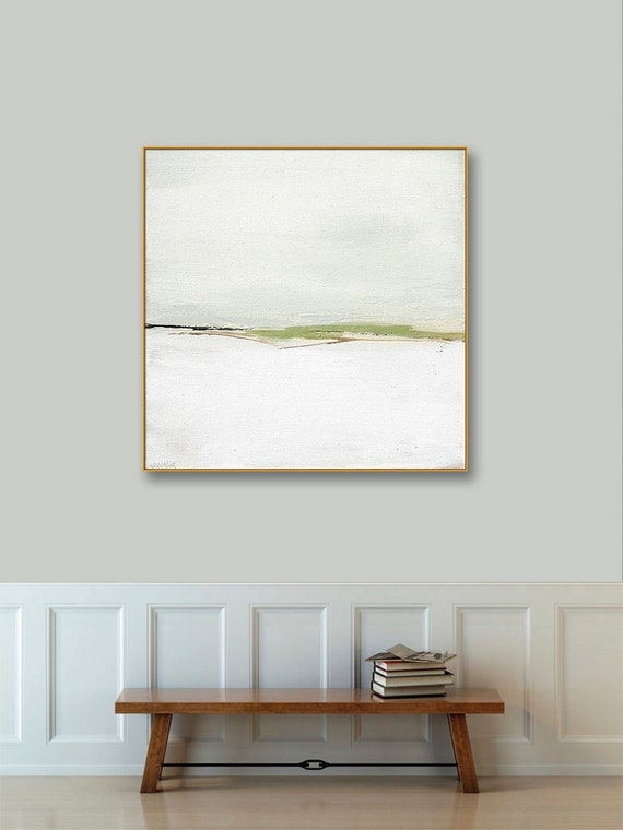 Large Gold Framed Abstract Landscape Art Canvas, Large 40x40 36x36 Framed  Print, Gold Frame, Black Frame, Large Framed Abstract Wall Art
