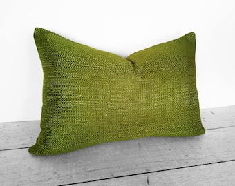 Chartreuse Watercolor Pillow Cover. $33