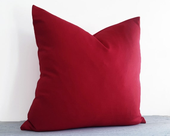 Red Throw Pillows, Solid Red Pillow Covers, Red Decorative Pillow, Red Wool  Cushion, Red Christmas Pillow, Fall Home Decor, 18x18 20x20