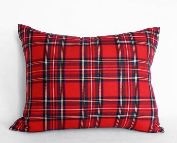 Plaid Christmas Pillows.Red Christmas Pillow Plaid Christmas Pillows Red Tartan Pillow Lumbar Pillow Covers Stewart Plaid Pillows Rectangle Pillows 16x26