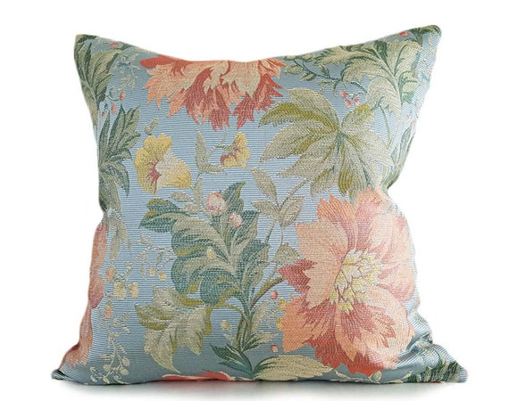 Spring Pillows Floral Pillow Covers Floral Cushions Blue Etsy