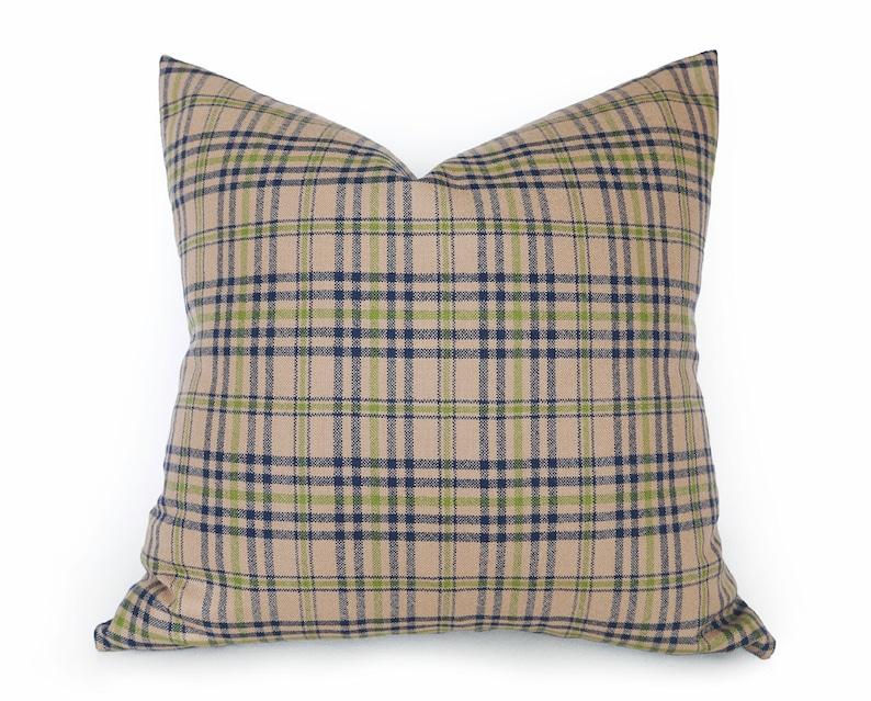 Throw Pillow Cover Paisley Tan W
