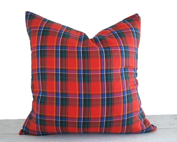 Red Cabin Pillow Rustic Pillow Cover