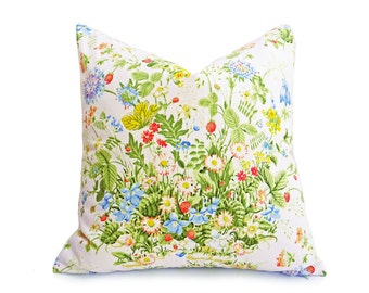 Shabby Chic Pillow, Country Pillow Covers, 18x18, 20x20, Floral Throw Pillows, Eco Friendly, Spring Pillow, Floral Pillowcase, 12x20, Lumbar