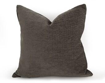Sage Pillows,  Green Pillow Covers, Corduroy Textured, Green Gray Cushions, Lodge Decor, 18x18, 20x20