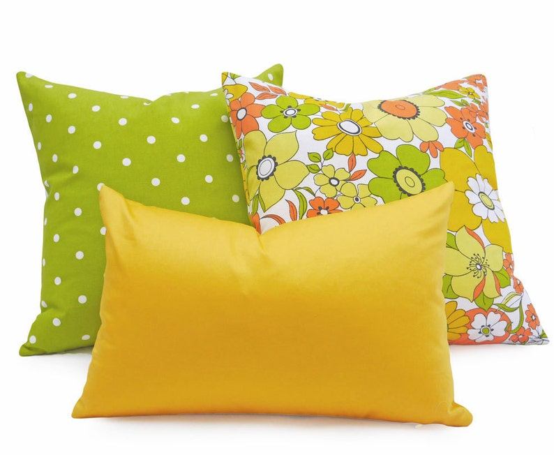 Yellow Decorative Pillows Yellow Pillow Covers Solid Yellow Etsy