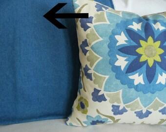 Blue Pillow Covers, Solid Blue Pillow, Blue Cushions, Throw Pillows, Accent Pillow, Decorative Pillow, Sofa Pillow, 18x18, 20x20, 22x22