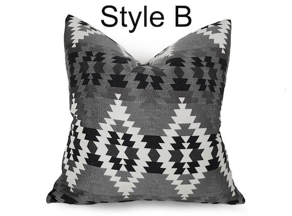 Cream Black Pillows Tribal Pillow Cover