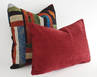 Solid Rust Pillow Cover, Soft Chenille Texture, Rustic and Rugged for Western, Ranch or Southwestern Decor,  18, 20, 22, 24, 26, NEW
