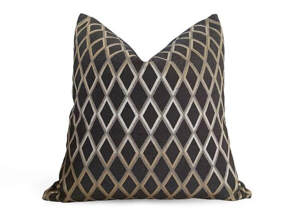 Decorative Pillows Diamond Pillow Black Pillows Black Gold Classy Black And Beige Decorative Pillows
