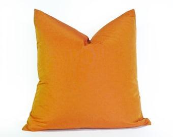 Pillow Covers, Orange Pillows, Orange Cushions, Orange Throw Pillows, Accent Pillows, Solid Orange, Zipper, Fall Decor, 12x18, 18x18, 20x20