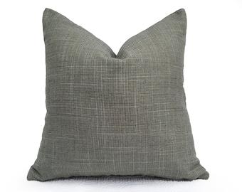 Green Tweed Pillow, Sage Throw Pillow, Textured Pillow Cover, 18x18, 20x20, Grey Green Cushions, Fall Home Decor, NEW