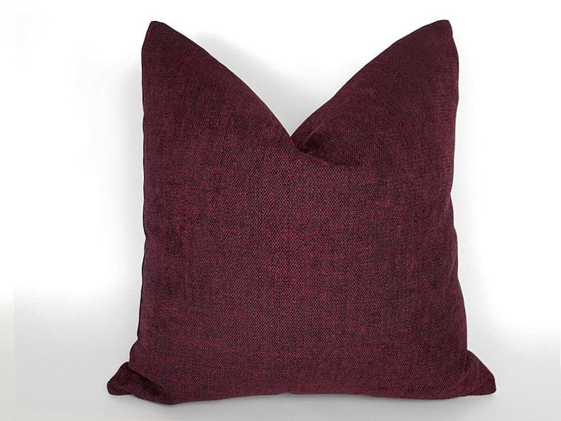 Dark Red Pillow Maroon Pillows Throw