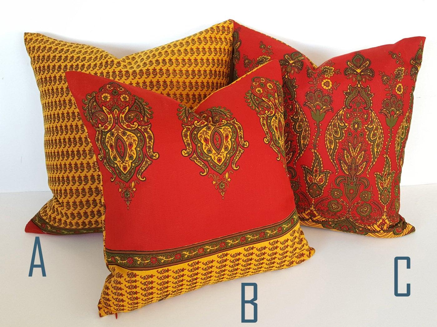 Boho Floor Cushions Bohemian Pillow Covers Red Boho