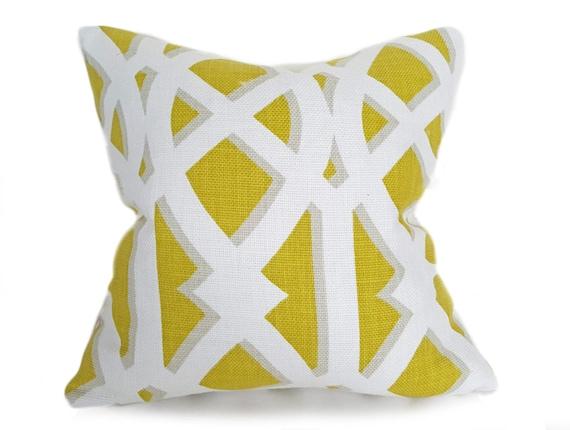 Kussen Wit 18 : Gele gooien kussen kussen covers geometrische kussen etsy