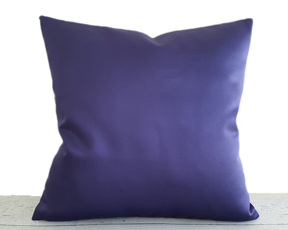 Purple Pillow Covers, Blue Sofa Pillows, Contemporary Pillows, Sapphire,  Purple Blue Pillows, Solid Blue Cushions, 18x18, 20x20