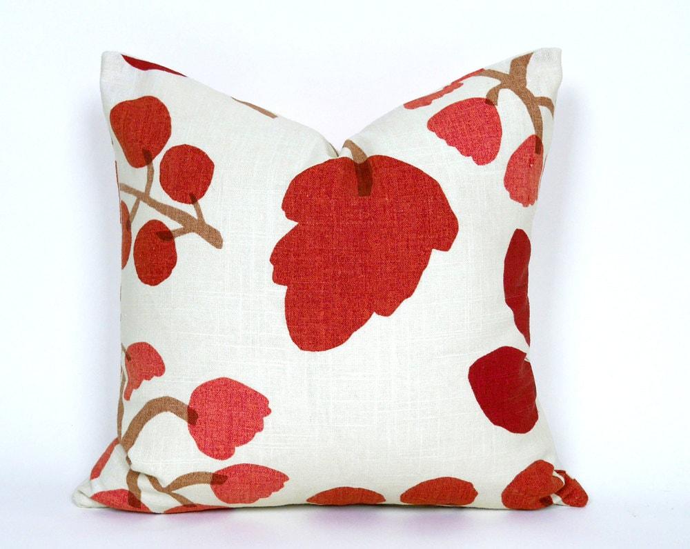 Cream Red Pillow Covers Cream Decorative Throw Pillows