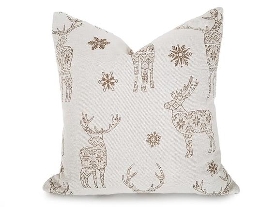 Christmas Pillows.Reindeer Pillows Christmas Decor Christmas Pillows Scandinavian Pillows Tan White Holiday Pillow Covers 12x18 18x18 20x20 New
