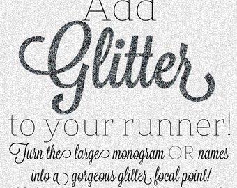 Add GLITTER to Your Custom Aisle Runner
