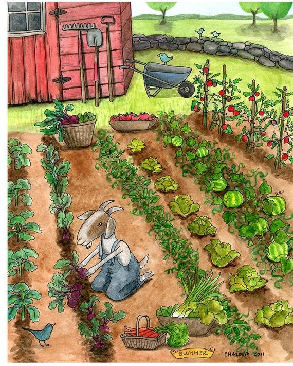 открытка на огороде
