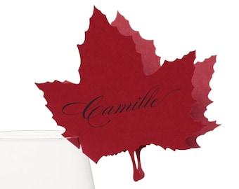 Maple Leaf Place Cards - autumn, leaf, tree, nature, canada
