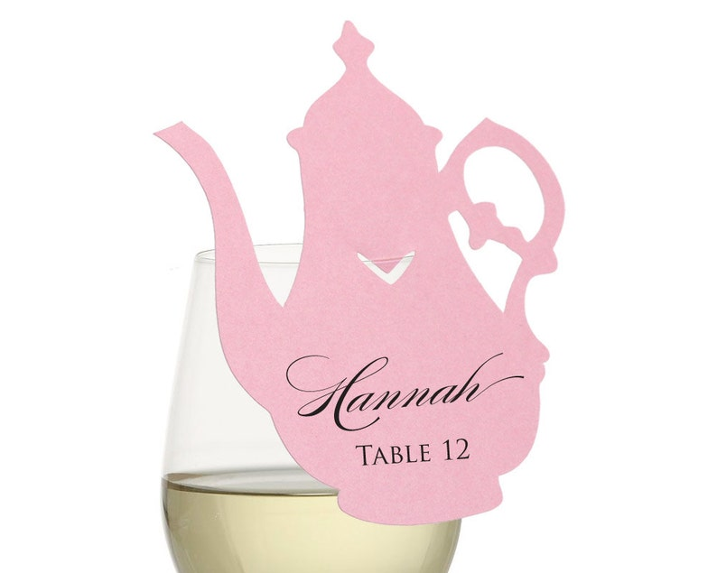 Teapot Place Cards  tea party wonderland alice fanciful image 0