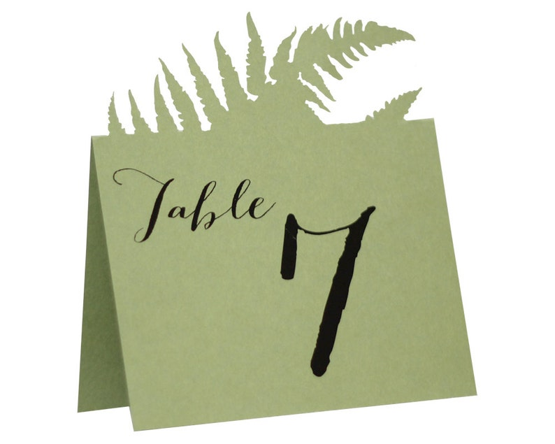Fern Table Numbers image 0