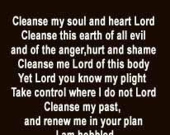 Cleanse Thee- Christian- faith -poem- bookmark-By Feon Davis, the poet-Instant download