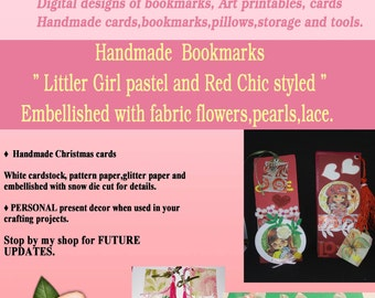 Little Girl bookmarks,handmade-For Ages 12-up
