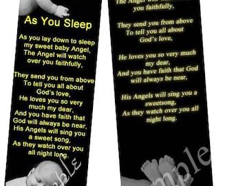 4pcs As You Sleep poem- by Author Eva Rehel ,Bookmark black
