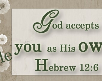 1 ---Bookmarks -Hebrew, 12:6 bookmark| printed ,laminated |option ribbon or tassel