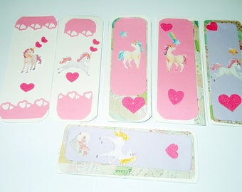 Bookmark- Unicorn Whimsy stickers  handmade  For all ages