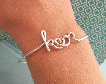 Two Lovers Bracelet in Sterling silver