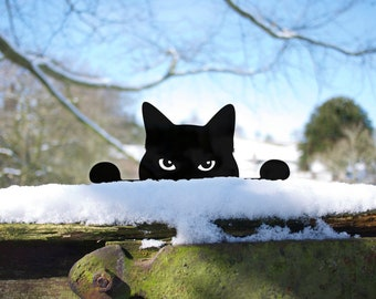Cat Yard Art Peeping Tom Outdoor Yard Art Garden Ornament, Perfect Gardener Gift