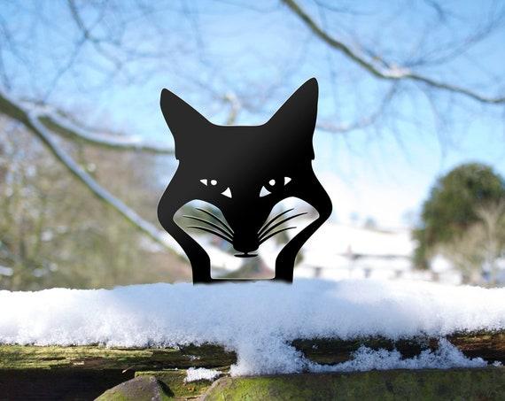 Fox Garden Sculpture Ornament. Gardener Gift Animal Yard Art