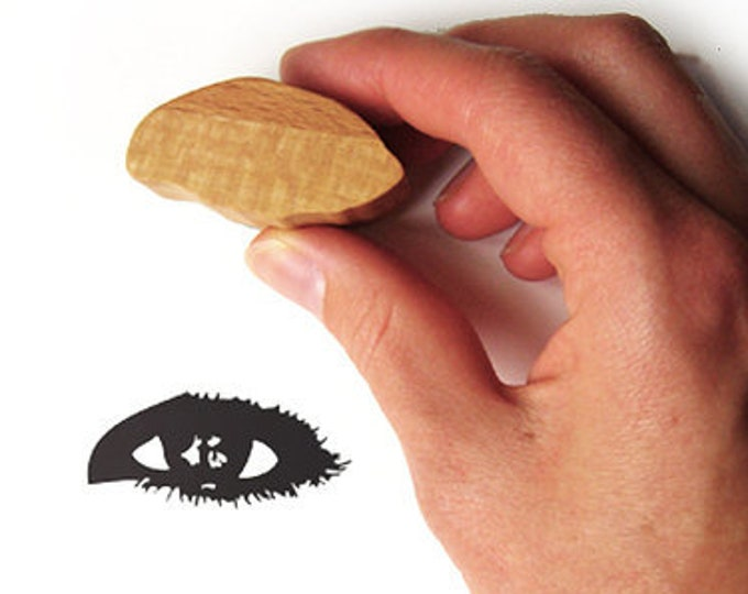 Eye Rubber Stamp, Ink Stamp