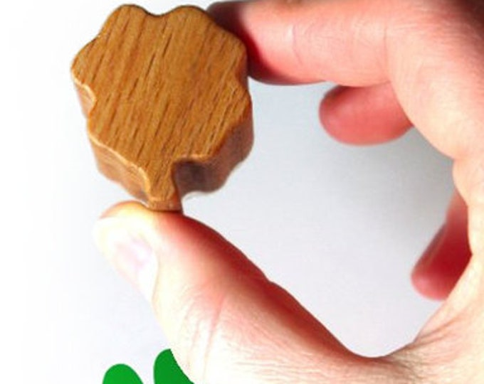 Clover Stamp, Good Luck Wooden Four Leaf Clover Stamp