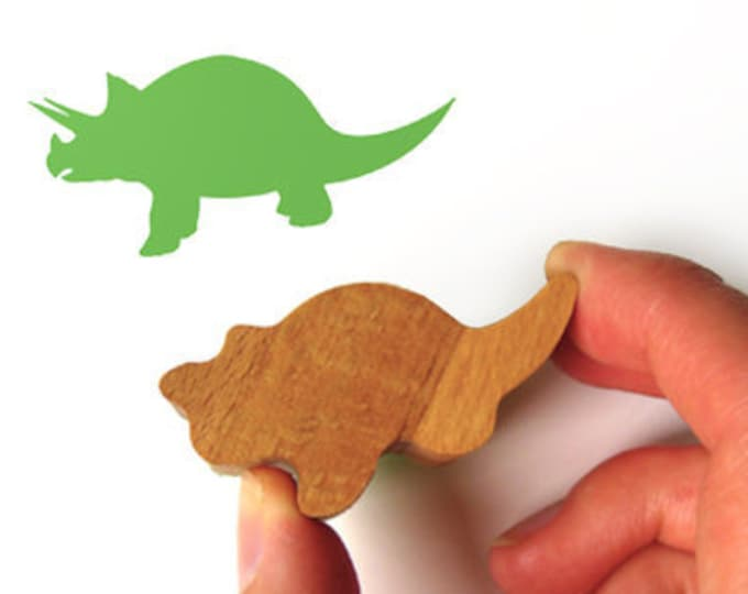 Dinosaur Stamp, Dino Rubber Stamp, Wooden Handle
