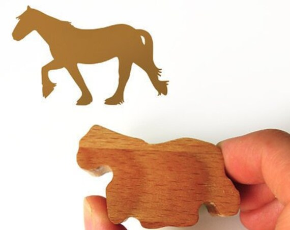 Horse Crazy Gift, Pony Ink Stamp for Horse Card Making Stationary Stamp